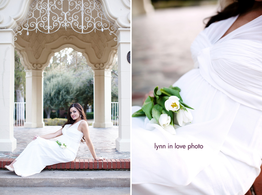 white tulips in dallas maternity photography