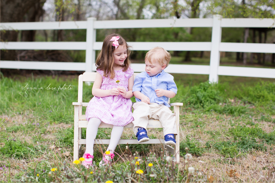 Patty and Cary's granchildren's outdoor Portraits at the Arlington studio by Lynn in Love Photo, Dallas and Houston Family Photographer