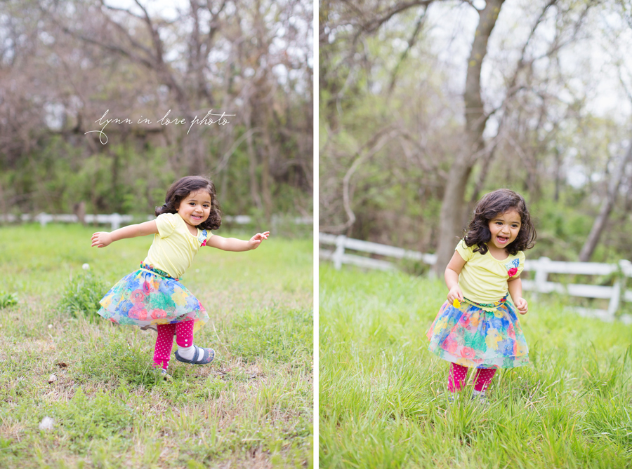 Color and bright Rhea's 2 year old baby girl session at the outdoor studio by Lynn in Love Photo, Dallas and Houston Child Photographer