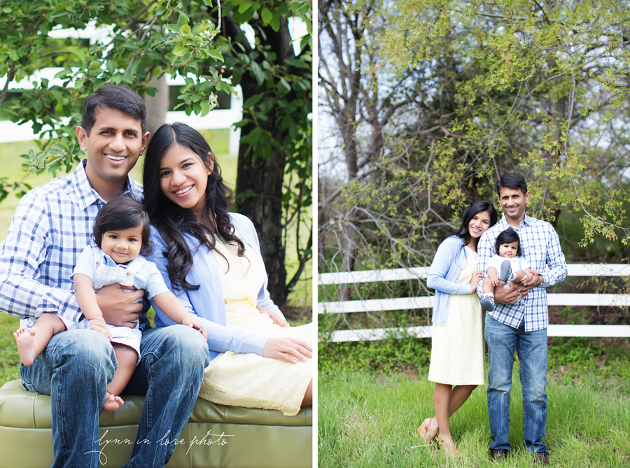 Varun, sweet 7 month Baby boy with parents in spring outdoor portrait session at studio by Lynn in Love Photo, Dallas and Houston children photographer