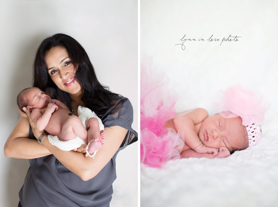 Ameya Newborn Session is pretty in pink with pink tutu by Lynn in Love Photo, Dallas and Houston Newborn Photographer