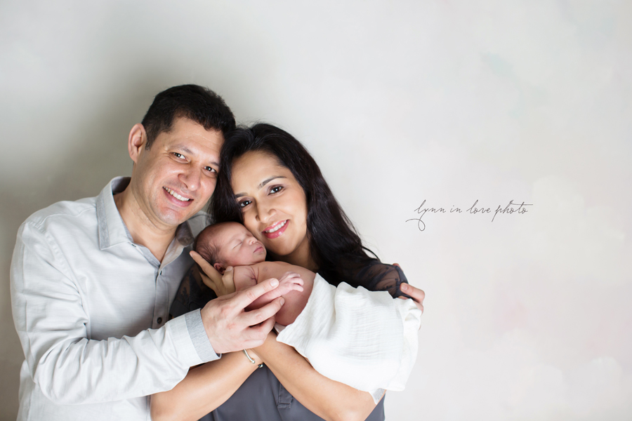 Ameya Newborn Session with family portrait by Lynn in Love Photo, Dallas and Houston Newborn Photographer