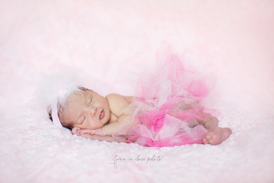 Ameya Newborn Session is pretty in pink tutu princess by Lynn in Love Photo, Dallas and Houston Newborn Photographer