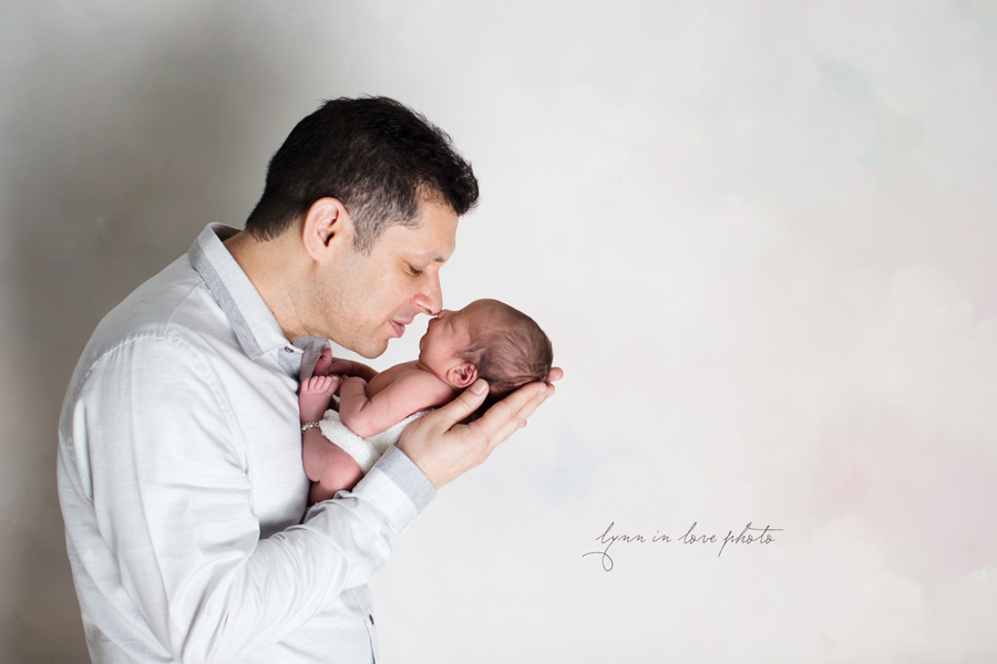 Ameya Newborn Session with dad by Lynn in Love Photo, Dallas and Houston Newborn Photographer
