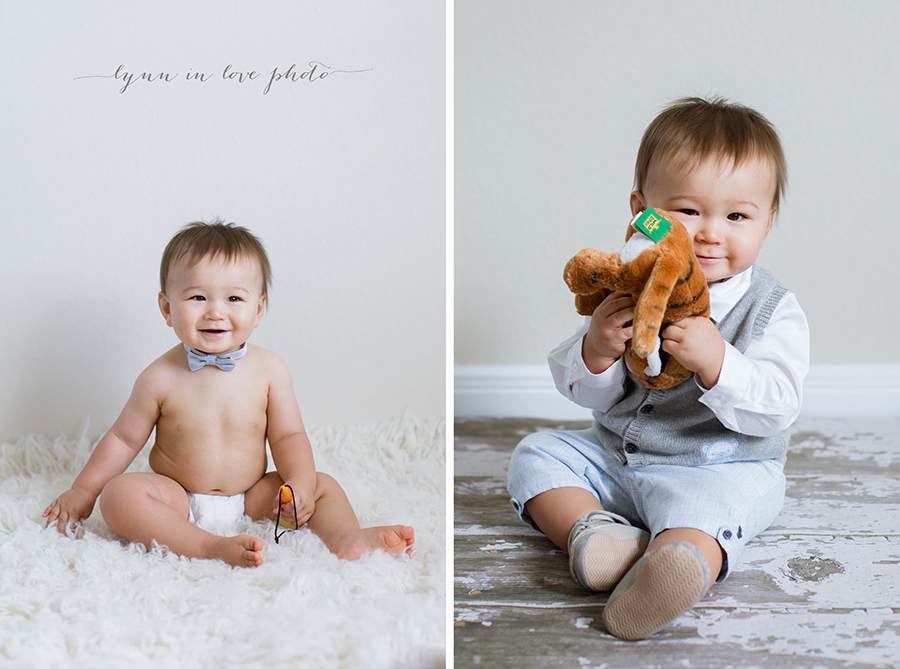 Sweet 1 year old baby boy by Lynn in Love Photo, Houston Baby Photographer