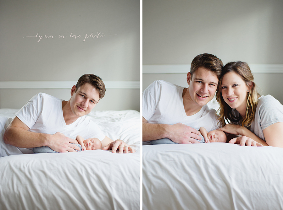 Otto newborn session on bed by Lynn in Love Photo, Houston newborn photographer